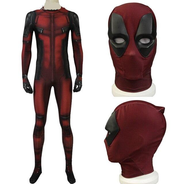Deadpool 2 Traje Cosplay Roupas Terno conjunto completo Wade Wilson Homens  Traje Macacão Adulto Elástico Personalizado 7cf04d548146