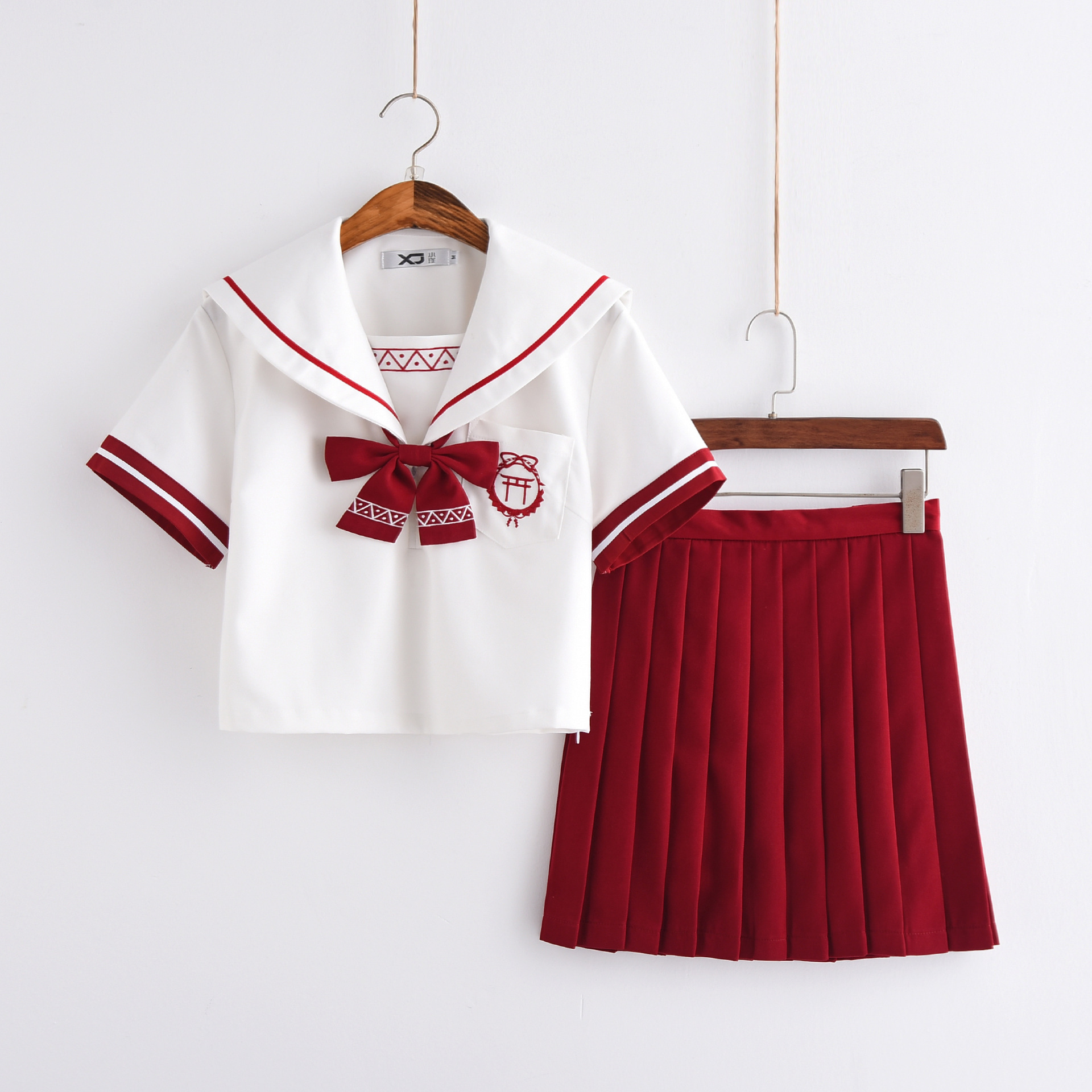 Lovely Girl Jk School Uniform Fresh Color Japanese Cosplay Short Sleeved Sailors Suit Student College Clothes Tops Pleated Skirt