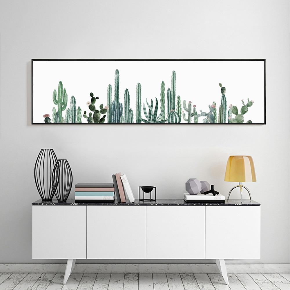 Canvas Print Long Painting Mini Desert plant Cactus Poster M