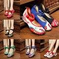Chegam novas Flats Mary Velha Pequim Sapatos de Pano Bordado Chinês Janes Casual Andando Sapatos de Dança Mulheres Macio 29 estilo plus size 41