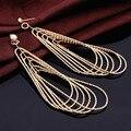 Mais recente Moda Design Exclusivo Declaração Ousada Longos Brincos Gota Para Presentes de Natal Mulheres Jóias boucle d'oreille XY-E120