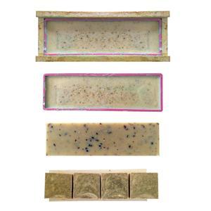 Image 5 - AsyPets 3PCS Rectangle Soap Mold Set DIY Toast Mold Silicon Pink Box + Wood Box Baking Tool (1.2KG Soap Volume) 30