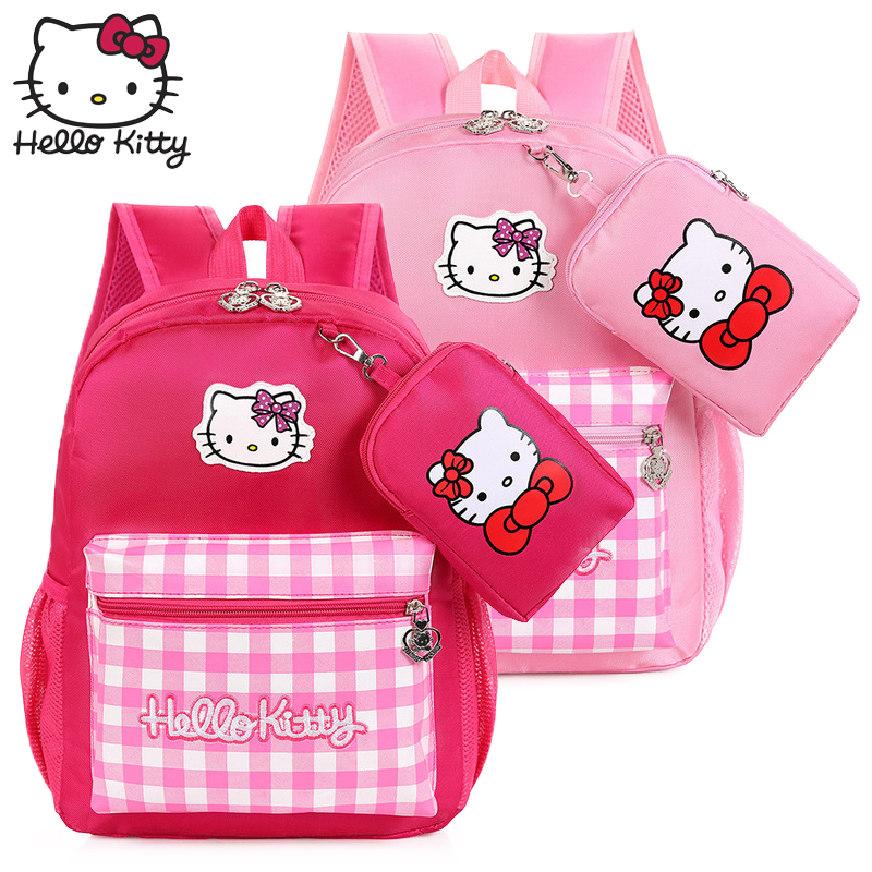 c6d60c489 Hello Kitty Bag Children's Cartoon Fashion Christmas Baby KT Small wallet Backpack  Waterproof Boy Girl Schoolbag