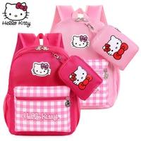 Hello Kitty Bag Children's Cartoon Fashion Christmas Baby KT Small wallet Backpack Waterproof Boy Girl Schoolbag Shoulder Plush