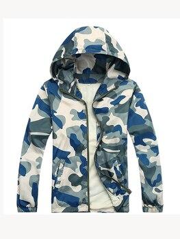 Мужская камуфляжная куртка TANGNEST, летняя тонкая Солнцезащитная куртка с капюшоном, оптовая продажа, 2019