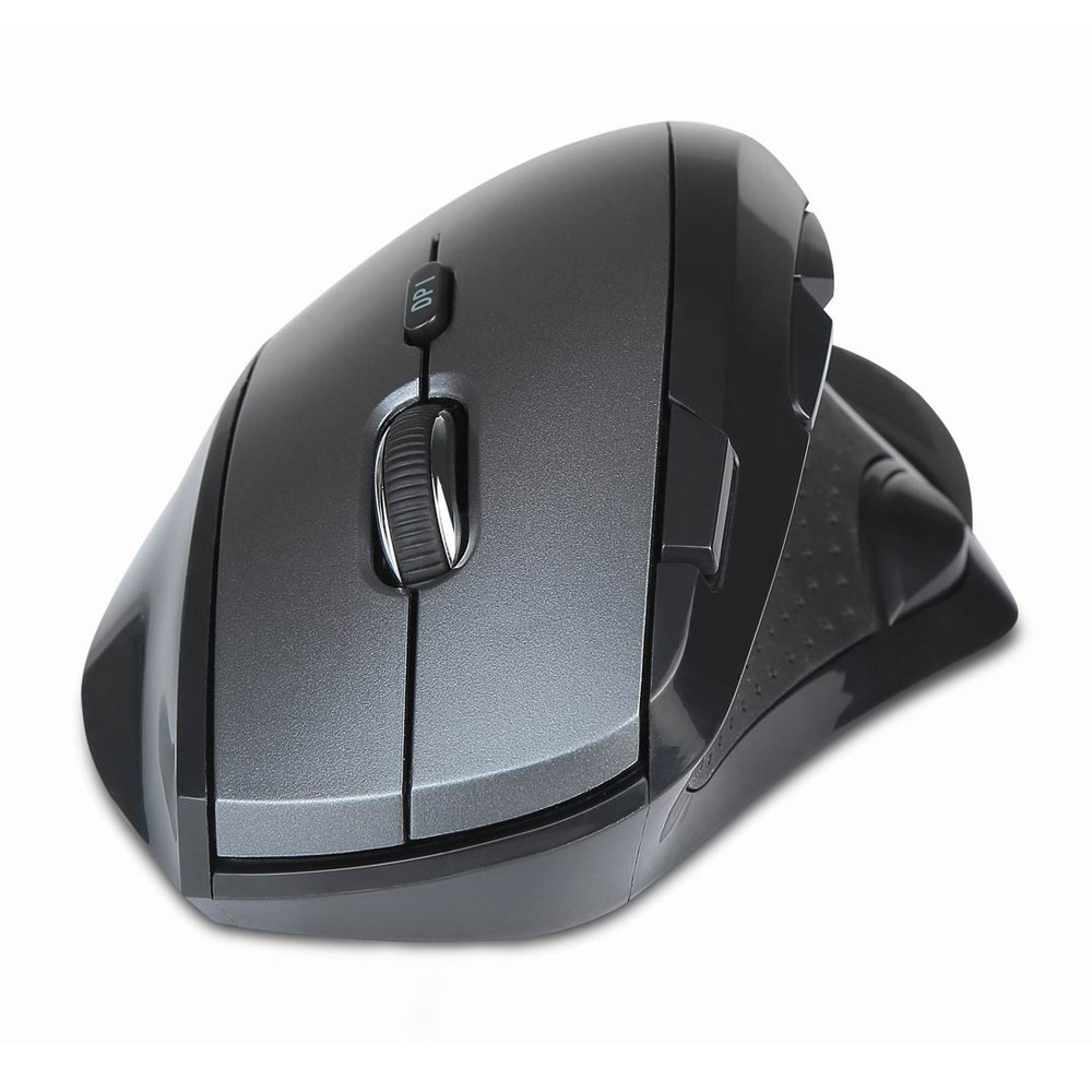 Delux M910 Wireless Vertical Mouse Ergonomic 2.4G 800/1200/1600/2400 DPI Adjustable 9 Buttons With Removable Palm Rest For PC