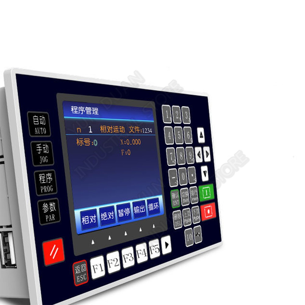 """3.5"""" TFT 4 Axis CNC Motion Controller 200KHz USB RS485 Offline Independent Driver for Stepper Servo Motor Engraving Router"""