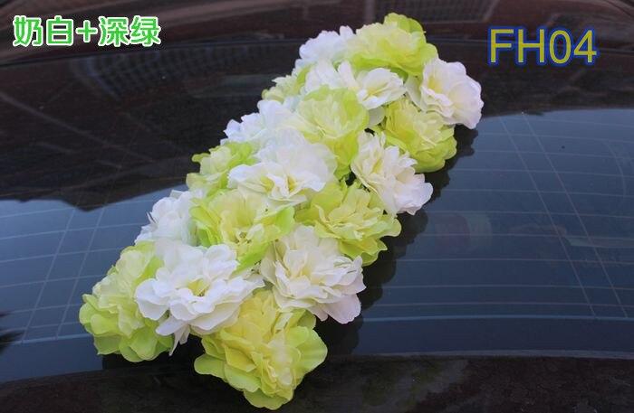 Свадебные композиция свадебные искусственные шелковые свадебные розы арки цветок Свадебные украшения цветок ряд цветок кадр 10 шт./лот - Цвет: FH04