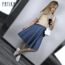 Classical Midi Skirt - اشتري قطع Classical Midi Skirt رخيصة