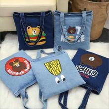 Прямые продажи с фабрики новая джинсовая холщовый мешок корейской версии женские плечо сумки для отдыха дорожные сумки