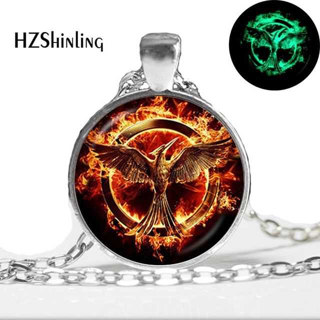 Glow in the dark jewelry firebird necklace fire phoenix pendant glow in the dark jewelry firebird necklace fire phoenix pendant glass dome jewelry glowing necklace pendant aloadofball Images