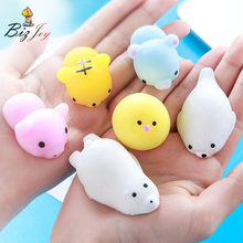 1PCS Squishy Antistress Slow Rising Kawaii Mini Animal Mochi Healing Hand Press Squeeze Toy Adult Kids Gift Stress Reliever(China)