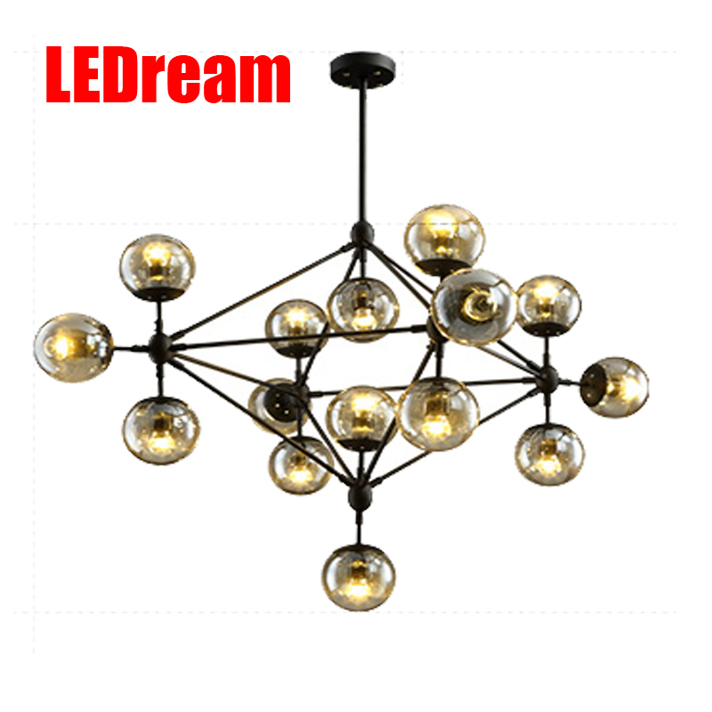LEDream Industrial chandeliers Ancient magic beans chandelier dining-room sitting room lights Nordic art pendant e27 led  bulb ledream contracted and creative personality sitting room dining room art glass chandelier american cherry branches pendent lamp