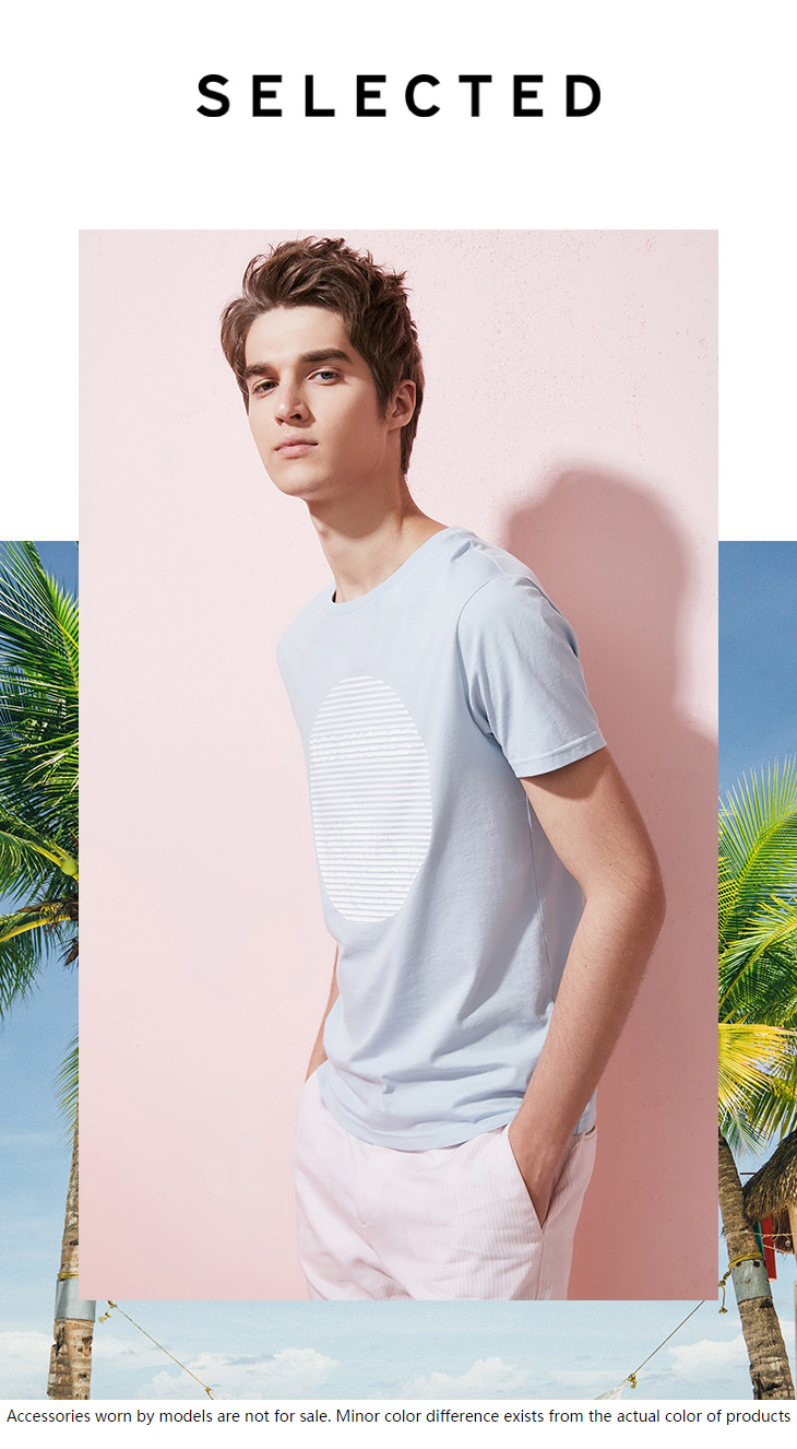 HTB1vr9SA9tYBeNjSspkq6zU8VXai - SELECTED  cotton round collar short-sleeved T-shirt C|4182T4593