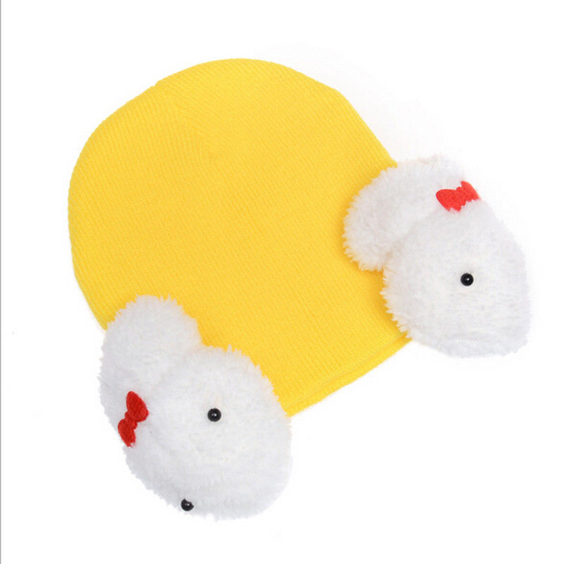 New Lovey Baby Chidren Toddler Kids Knitted Beanies Cute Rabbit Crochet Ear Beanie Kids Knitted Winter Warm Hats