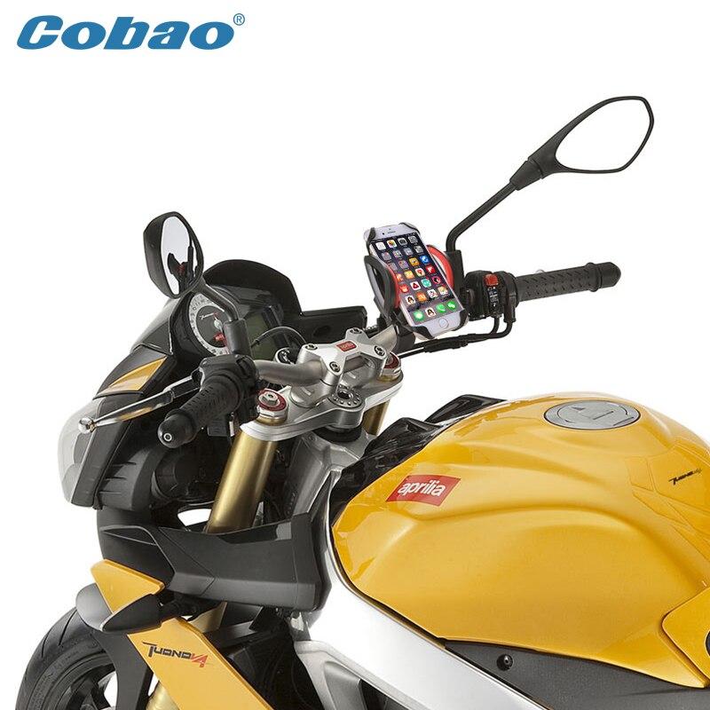 2017 teléfono móvil móvil universal para bicicleta motocicleta del montaje del manillar sostenedor de la horquilla del soporte para el iphone 6,7, 8, honor, meitut8, lg