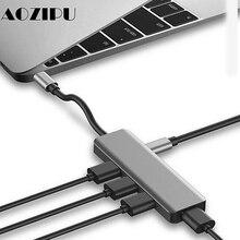 Estación de acoplamiento USB tipo c multifunción USB C HUB a USB 3,0 RJ45 VGA adaptador para MacBook Samsung Galaxy S8 S9 HUAWEI Matebook