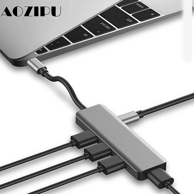 Multifunction USB Type c Docking Station USB C HUB To USB 3.0 RJ45 VGA Adapter for MacBook Samsung Galaxy S8 S9 HUAWEI Matebook-in Laptop Docking Stations from Computer & Office
