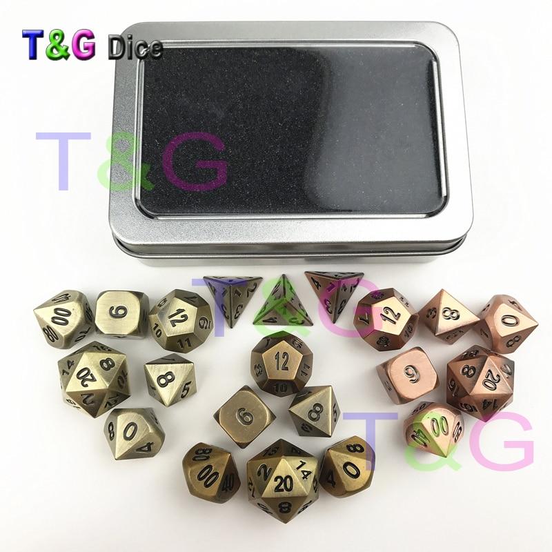 3 Sets of 21PCS T&G High Quality Dnd Bronze/Brass/Copper