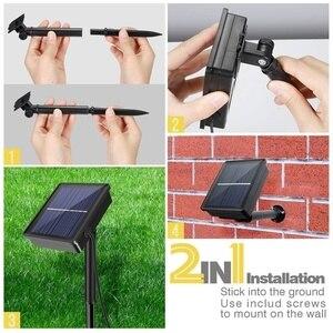 Image 5 - Tira de luz LED alimentada por energía Solar, 5M, 150LED, SMD2835, cinta de iluminación Flexible, 8 modos, impermeable, luz de fondo, decoración de jardín