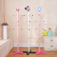 138cm 6 Hooks Children Cloth Coat Racks, Floor Standing Hall Furniture, Simple Wooden Clothes Shlef, Bedroom Living Room Stands