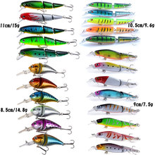 24pcs Minnow Fishing Lure Equipment Fish Lures Set Crankbaits Synthetic Exhausting Lure Bait Bass for Carp Fishing Sort out Pesca