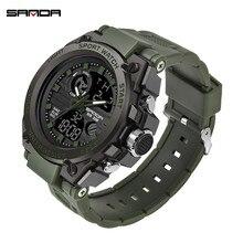 2019 SANDA G Style Mens Watch Fashion Multifunction Military Sports S Shock Digital Clock Relogio Masculino