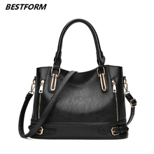 BESTFORM Casual Bag Womens Luxury Leather Women Handbags Crossbody Shoulder Ladies Messenger Fashion Large Capacity Handbag