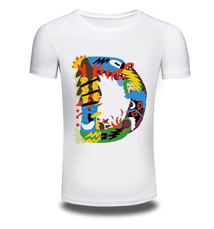 2017 Men/Women Summer Fashion Short Sleeve Brand Clothing T Shirt 3D Print Shirt T-shirt Animal White Letter T-shirts Tee AW194