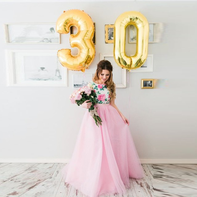 Sweet Baby Pink Tul Palabra de Longitud Faldas Largas de Alta Calidad de Cinco Capas de Tul Fiesta de Cumpleaños Faldas Maxi Faldas de Las Mujeres de Moda