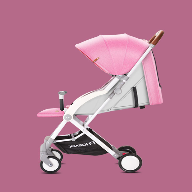 Baby Stroller Ventilation Breathable Ultra Light Small Portable Folding Shock Absorber Pink Gray Blue 0-2 Years Old Child