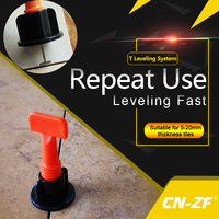 CN ZF 50 Sets Bag 1Pcs Tool Plastic Flat Ceramic Leveler Floor Construction Tools Wall Level