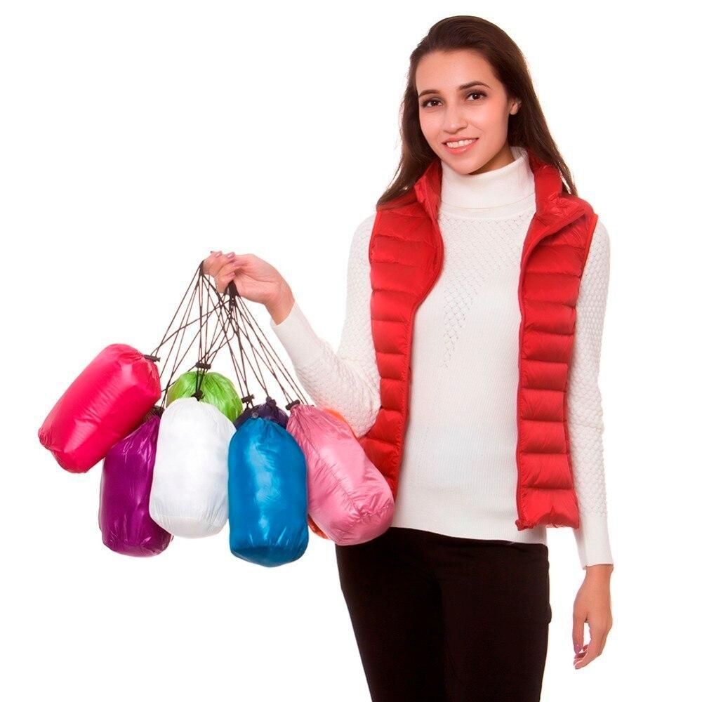[Aiweier] New Autumn Winter Jacket Women Lightweight   Down   Jackets Vest Zipper Slim   Down     Coats   For Female Parkas Garments Clothes