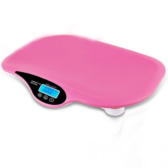 Escalas De Medição De Bebê infantil Crianças Cor Sólida Elétrica Digital LCD Pesando Ferramentas com Música & Testes De Temperatura para Crianças