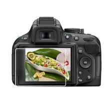 מזג זכוכית מגן משמר כיסוי עבור ניקון D5100 D5200 DSLR מצלמה LCD תצוגת מסך מגן סרט הגנה