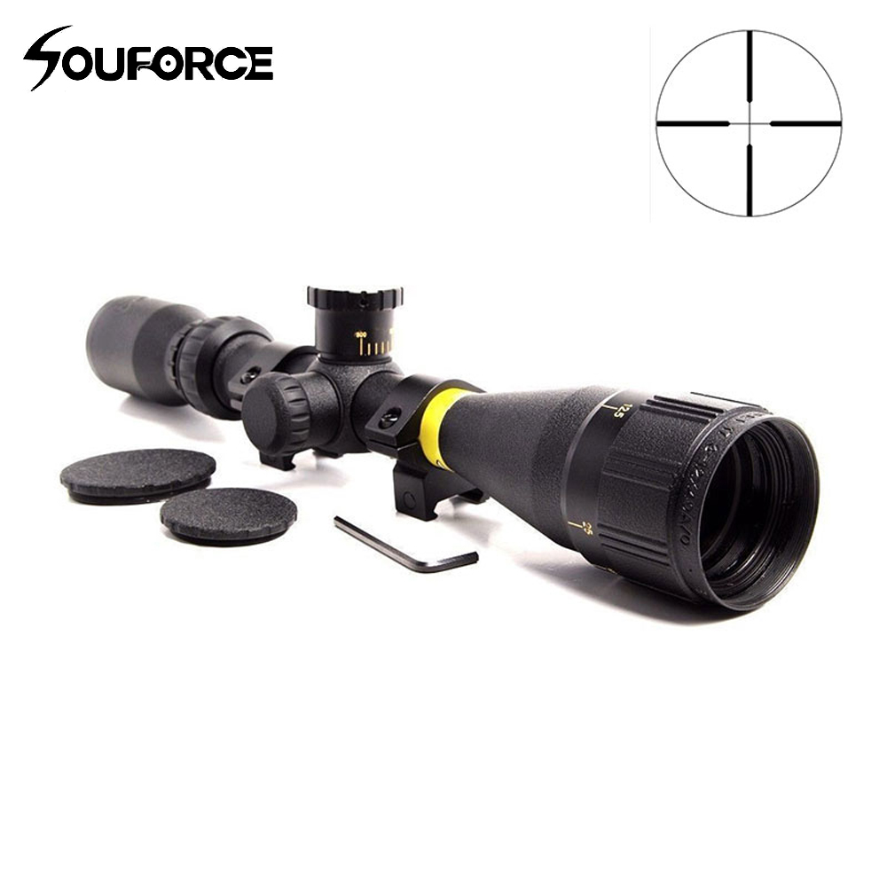 3-12x40 AO Duplex Crosshair Reticle Sight Tactical Riflescope Reticle Optical Rifle Scope Optical Sight for Air Rifle Hunting zos 3 12x40 ao mil dot reticle riflescope classic tactical weapon optical sight for hunting rifle scope with lens cover