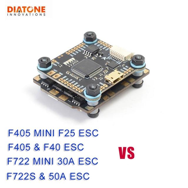 Controlador de vuelo Diatone MAMBA F405/F722S Betaflight & F40 40A/F25 DSHOT600 50A/30A DSHOT1200 sin escobillas ESC para la pieza del modelo RC