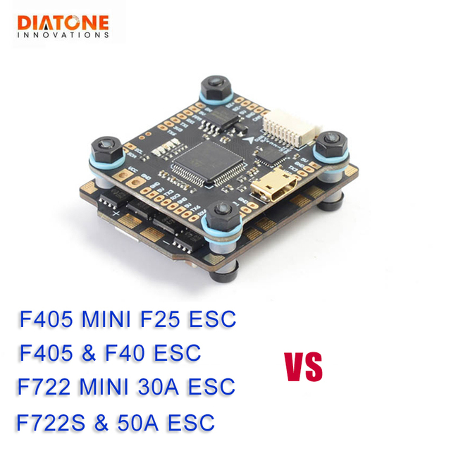 Diatone MAMBA F405/ F722/ F722S Betaflight Flight Controller & F40 40A/F25 DSHOT600 50A/30A Brushless ESC For RC Model Part Accs