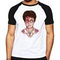 Moda padrão t-shirt dos homens engraçados legal david bowie rocha algodão o pescoço camiseta homem reglan clothing mens