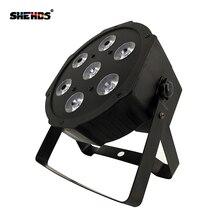 DJ плоский SlimPar Quad 7 RGBW цвет смешивания светодио дный 7 Вт 12 DMX свет поднимается Быстрая доставка для вечерние диско-вечеринки освещение