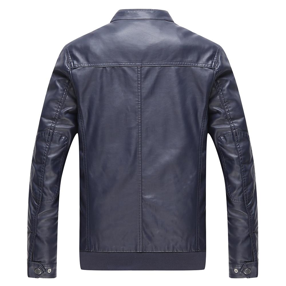 jaqueta de couro masculina moška usnjena jakna krznen srednjih let - Moška oblačila - Fotografija 5