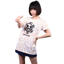ORZ Super Cool ONE PIECE T-shirt Trafalgar Law Anime Tee Japanese Short Summer Cosplay Costumes 100% Cotton