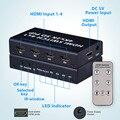 4 Порта 4x1 HDMI Переключатель Коробки 4 К 3D 1080 P PIP Switcher ИК пульт дистанционного Управления Переключатель для HDTV PS3 PS4 DVD СТБ PC Xbox 360