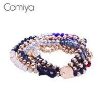 Comiya браслеты для женщин стеклянные украшения из цинкового сплава аксессуары Pulseira Feminina Интернет-магазин Индийский браслет