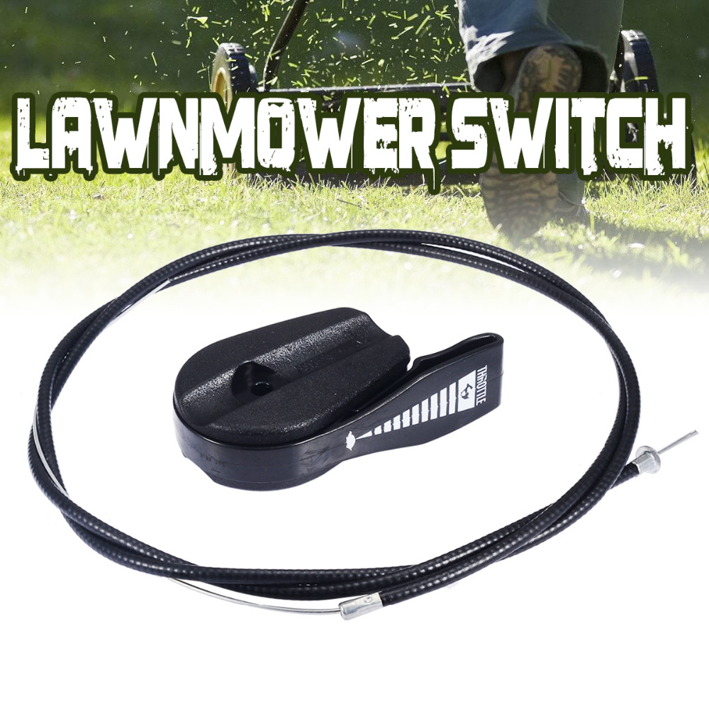 Universal 65 inch Throttle Cable Switch Lever Control Handle Kit Lawnmowers Switches For Garden Lawnmower Tool PartsUniversal 65 inch Throttle Cable Switch Lever Control Handle Kit Lawnmowers Switches For Garden Lawnmower Tool Parts