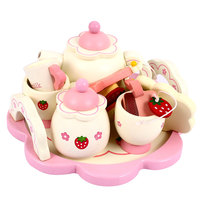 Tea Set Kitchen Play Toy Afternoon Tea Toys Preschool Children Gift Educational Beautiful Mini Cute