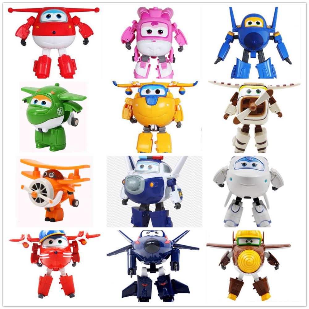 Boite Transformation 15 Super Jouets Avion Ailes Originale Superwings Robot Cadeau Cm Déformation Figurines Enfant GrosSans CoedrxB