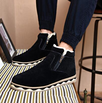 2018 Winter England Dicke Männer Schuhe Casual Warme Plus Samt Schnee Stiefel V16 Attraktive Designs;