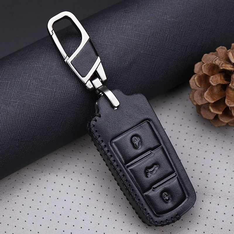 cheapest Genuine Leather Car Key Cover Case For Volkswagen Golf 4 5 6 7 MK7 Passat CC Passat B6 B7 B8 Passat 3C CC Magotan R36 B5 B7L