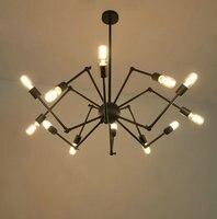 Стиле лофт промышленность паук 8,12, 16 глав Винтаж промышленные подвесные светильники лампа светильник Исследование/ресторан
